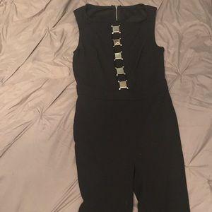 Black jumpsuit metal top size med